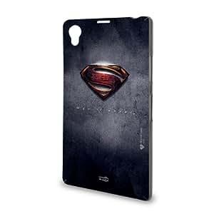 Handyschale Handycase für Sony Xperia Z1 veredelt mit YOUNiiK Styling Skin - Superman - Man of Steel