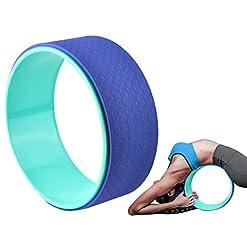 ISO TRADE Yoga Rad Trainings Rolle Wheel Fitness Trainer Rücken Wirbelsäule Pilates Sport 5720
