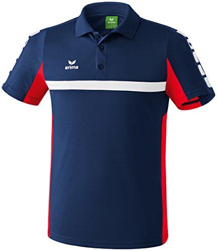 erima Herren Classic 5-C Poloshirt, new navy/rot M