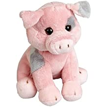 Ravensden FRS016PI The Suma Collection - Cerdo de peluche (19 cm), color rosa y gris