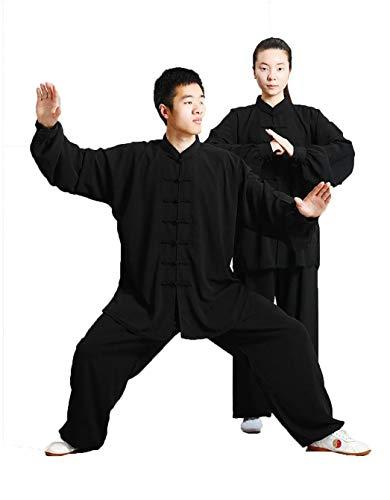 GEGEQ® Tai Chi Kleidung Morgengymnastikkleidung Kung-Fu Kleidung Kampfsportkleidung Seidenmaterial - Anzug/inkl. Kleidung und Hose XL B -