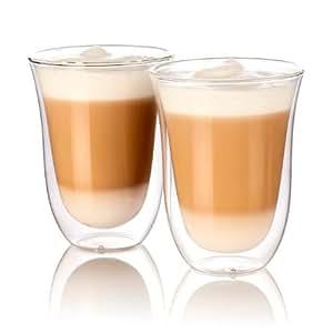 Cucina di Modena Kaffeegläser: Doppelwandige Latte-Macchiato-Gläser, 2er-Set (Lattegläser)