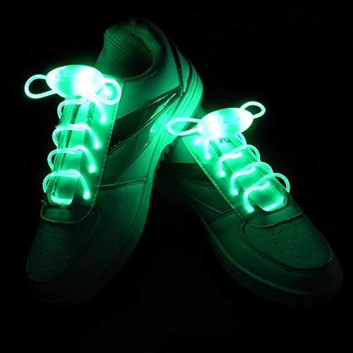 kel 2 Paare Einstellbar LED Schnürsenkel Leucht Schuhband, Party Neuheit Verkleiden Dekor (Grün) ()