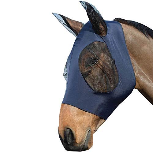 Weatherbeeta Stretch Bug Eye Saver with Ears Fly Mask Full Size Navy/Black -