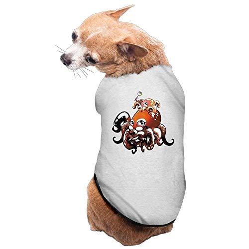 g, Mantel, Kostüm, Pullover, Weste, für Hunde und Katzen, weich, dünn, Oktopus-Familie, in 3 Größen und 4 Farben erhältlich ()