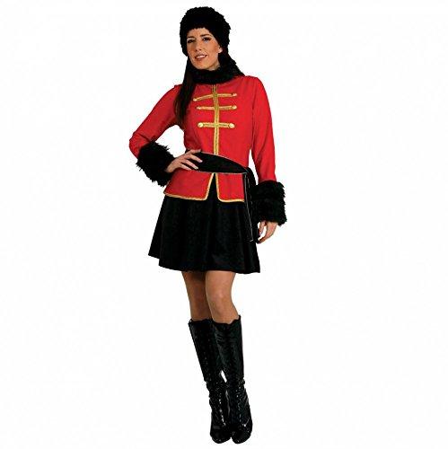Kostüm Ukraine - Kostüm Kosakin Kleid schwarz-rot Uniform Militär Russland Ukraine (XX-Large)