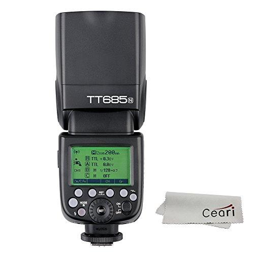 Godox TT685N TTL Blitzgerät Speedlite GN60 HSS 1/8000s 0.1-2.0 Recycle Time 230 Full Power Blitzes für Nikon D7200 D7100 D5300 D5200 D3200 D800 D810 D610 DSLR Kamera - Für Flash-kit D3200 Nikon