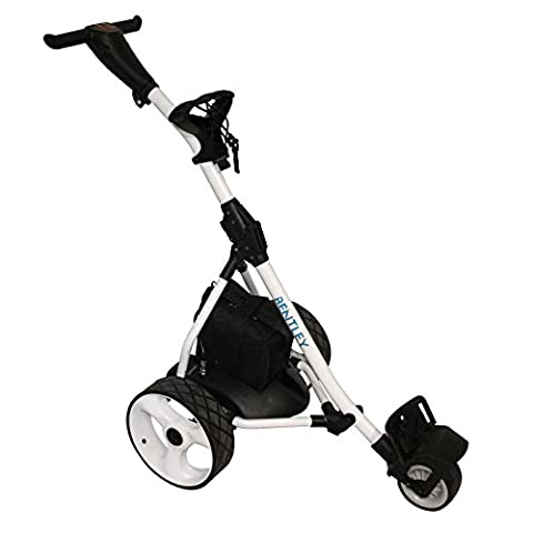 Charles Bentley Sport Electric Golf Caddy Cart Trolley 200W 33Amp Battery With Charger - White