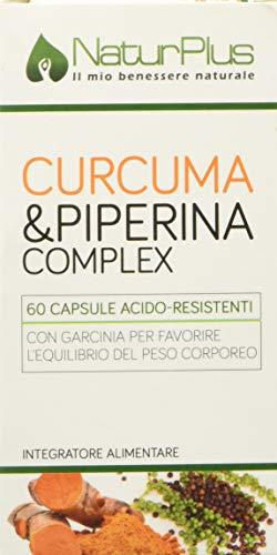 NaturPlus Curcuma e Piperina Complex - 60 Capsule