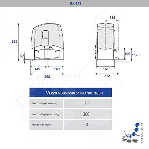 Schiebetorantrieb CAME BX 243 (Set L)