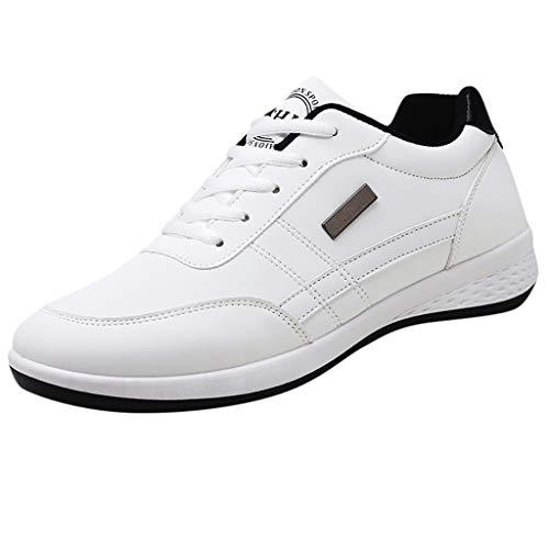 Herren Breathable Casual Wilde Sportschuhe gewebt Freizeitschuhe Sneaker Slip on Turnschuhe Outdoor Schuhe,Golfschuhe Ohne Soft Spikes Schuhe Streifen Detail Flat Pedal Fahrrad Schuhe Sneaker