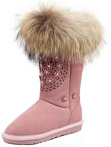 elehot-femme-elecollege-plat-2cm-souple-bottes-rose-39