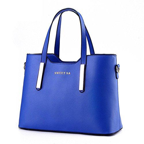 qckj Mode Cross Body Schulter Tasche Frauen Pu Handtasche High Qualität Dunkelblau