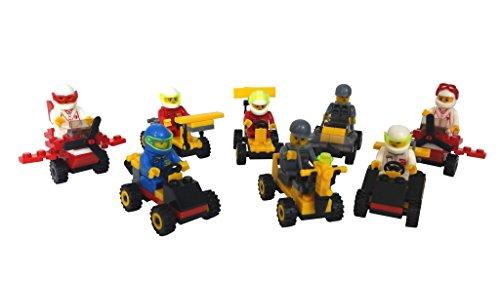 Fahrzeuge zum zusammenbauen, kompatibel mit Lego (8 Stück) – Mitgebsel oder Geschenk für Parties, zum Rennen fahren oder zusammenbauen! (Kinder-party Favors-spiele)