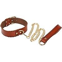 BESTOYARD SM Halsband Spielzeug Leder Halsband Hals Bondage mit Metall Leine für Paare Liebhaber preisvergleich bei billige-tabletten.eu