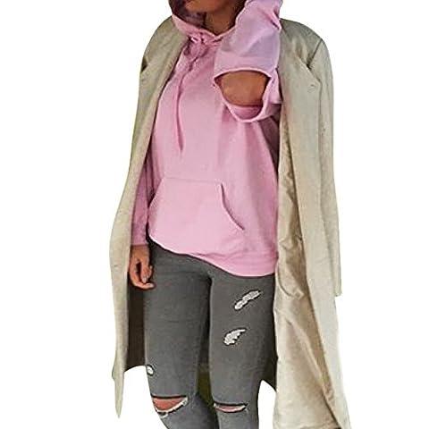 Wenyujh Damen Kapuzenpullover Pullover Hoodie Herbst Winter Langarm Sweatshirt Langarmshirt mit