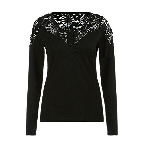 sweatshirt damen kolylong frauen elegant spitze bluse mit. Black Bedroom Furniture Sets. Home Design Ideas
