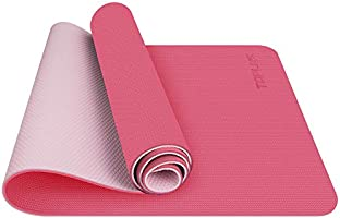 TOPLUS Esterilla Yoga Antideslizante Alfombrilla de Yoga Esterilla Pilates Esterilla Deporte- con Correa de Hombro 183cm...