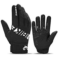 ‏‪INBIKE MTB BMX ATV Mountain Bike Bicycle Cycling Gloves DH Road Racing Motorcycle Motocross Sports Glove Men Women X-Large Black IM19806-Black-XL‬‏