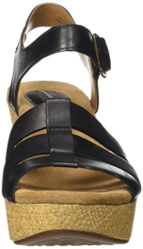Clarks - Caslynn Harp, Sandali Donna Nero (Black Leather)
