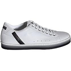 Cesare Paciotti Paciotti 4us Scarpe Sneaker Uomo RRFU1SZ Softly-Calf 301 White-Black Primavera Estate 2018