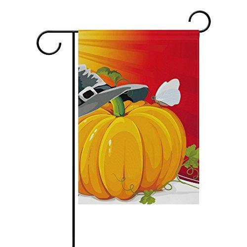 Kürbis mit Ray Hintergrund Vector A4Deko Welcome Colorful Mulitcolor Bright Cute Garden Flagge, Gesponnenes Polyester, multi, 12x18(in) (Halloween-hintergrund Mit Kürbis)