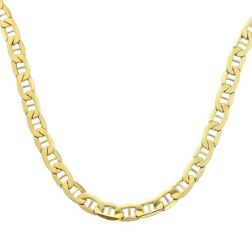 Citerna 9 ct Yellow Gold Anchor Chain Necklace of 20 Inch/51 cm Length and 0.5 cm Width