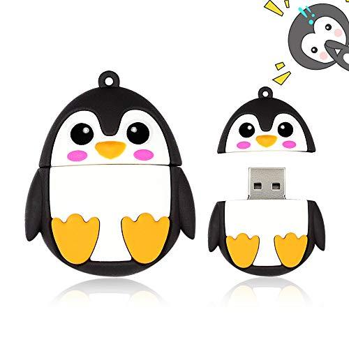 H&T USB-Flash-Laufwerk, Neuheit Und Nette Tier Serie Penguin Form Memory Stick Lustige Pen Drive-Daumen-Antrieb Für Kinderfotobildspeicherung - Geschenk,64gb
