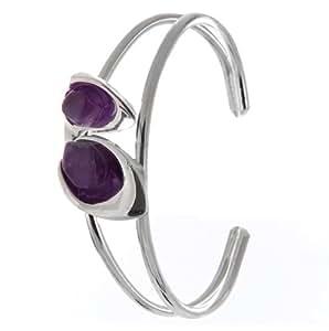 Bracelet/Manchette/bracelet avec pierre Améthyste
