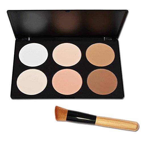 Vococal® Maquillage Cosmétiques Maquillage Fondation Visage Contour Palette avec 1 Pcs Brosses de Maquillage