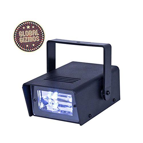 20W Mini Disco Strobe Licht Ultra Bright LED Akku Power DJ Party Beleuchtung Effekt ABS Kunststoff Gehäuse Verstellbare Halterung (Batteriebetriebenes Stroboskop Licht)