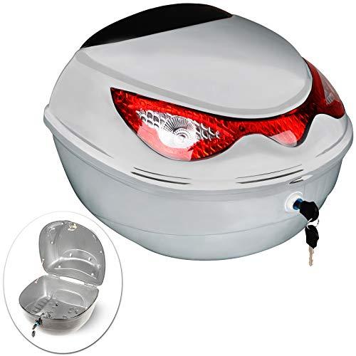 Baúl para Moto | 18 litros, Máx. 5kg, 40x37x28cm, Bandas Reflectantes| Topcase,...