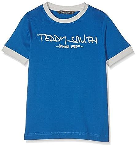 Teddy Smith Ticlass 3, T-Shirt Garçon, Bleu (Turquoise Caribbean Blue), 16 Ans (Taille Fabricant: