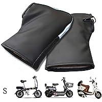 LIDMOTO Manguitos de protección para Motocicletas Guantes de Scooter eléctrico Cuero de PU Invierno cálido,