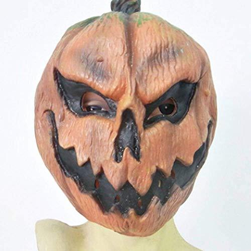 Kürbis Vogelscheuche Kostüm Kopf - DUDUCHUN Deluxe Neuheit Halloween Kostüm Party Latex Kürbis Kopf Maske
