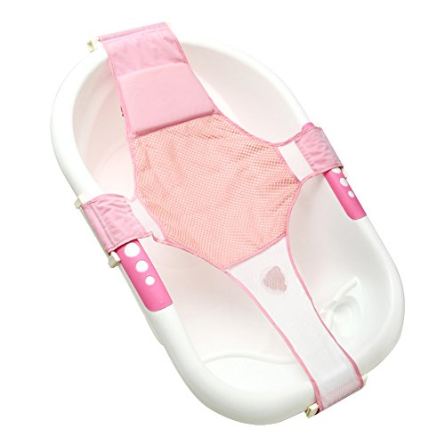 Baby Verstellbar Bad Sitz Baden Badewanne Sitz Baby Badewanne Net Sicherheit Sicherheit Sitz Unterstützung Infant Dusche Kissen pink