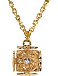 Modish Look Brass Pendant Laxmi Ganesha Luck Charm Jewellery