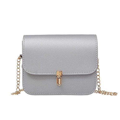 Sprnb Il Nuovo Dolce Personalità Tutta-Match Bag Sacca Crossbody Borsa Casual Telefono Mobile,Nero silvery