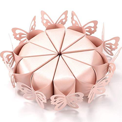 50 PCS Rosa Schmetterling Candy Boxen Kuchen Stil Für Baby Dusche Hochzeit Party Taufe Geburtstag Kreative Boxen Für Geburtstag Party