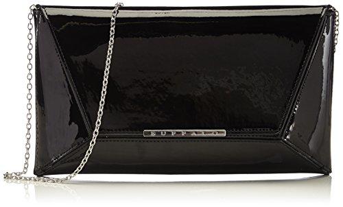 Buffalo BAG 14907 PATENT PU Damen Clutch 1x17x30 cm (B x H x T), Schwarz (BLACK 01) -