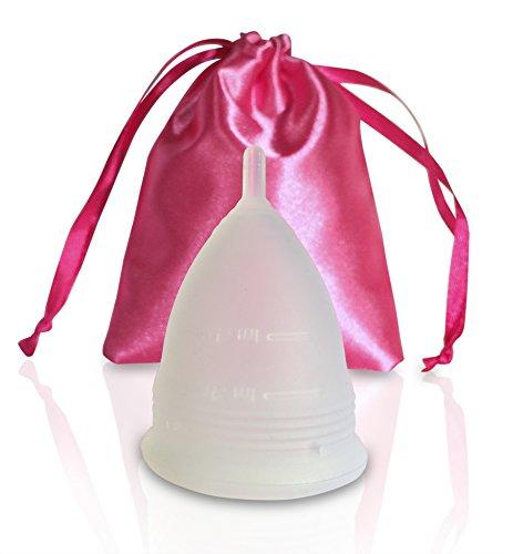 Menstruationstasse AvaLoona (weiß klein) | 1 EUR geht an Terre des Femmes | Menstruationskappe | Menstruationsbecher - 2