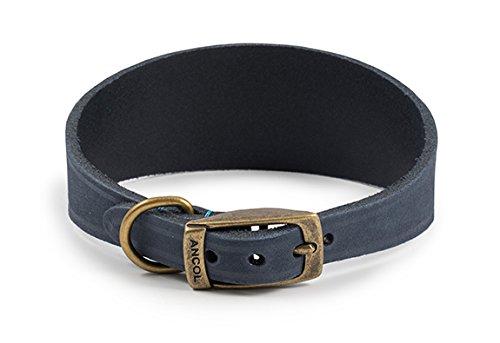 Ancol Timberwolf Whippet in Pelle Collare di Cane, 30-34cm, Blu