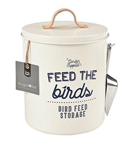 Burgon and Ball neuer Feed the Birds - Vogelfutter-Behälter aus Emaille
