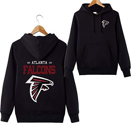 ZXTXGG Männer 3D Hoodies Atlanta Falcons NFL Football Team Uniform Muster Digitaldruck Liebhaber Kapuzenpullis(L,Schwarz) Atlanta Falcons Uniform