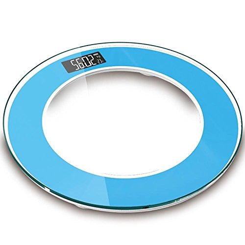 LIUYU Escala de grasa corporal Escala de baño digital Composición corporal Monitor Analizar Peso, básculas de baño Circular,Azul