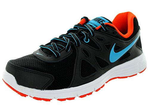 Nike Revolution 2, Chaussures de Running Entrainement Homme, Blanc, Taille Black/Bl Lagoon/Tm Orng/White