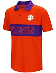 "Clemson Tigers NCAA ""Setter"" Youth Jeunes Performance Polo shirt Chemise"