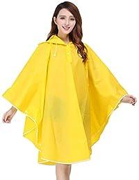 Mujer Poncho lluvia impermeable con capucha portátil abrigo impermeable Impermeable y Transpirable Con chubasquero moderno con Capucha Chubasquero Impermeable ropa de lluvia para bicicleta o moto