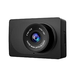 YI Compacte Dashcam Caméra Embarquée Caméra de Voiture Vidéo Full HD 1080P Grand Angle 130° WiFi Ecran LCD 2.7'' - Noir