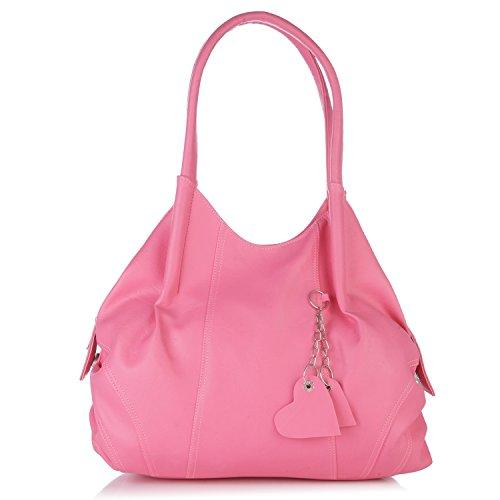 Fostelo Women's Style Diva Handbag (Pink) (FSB-511)